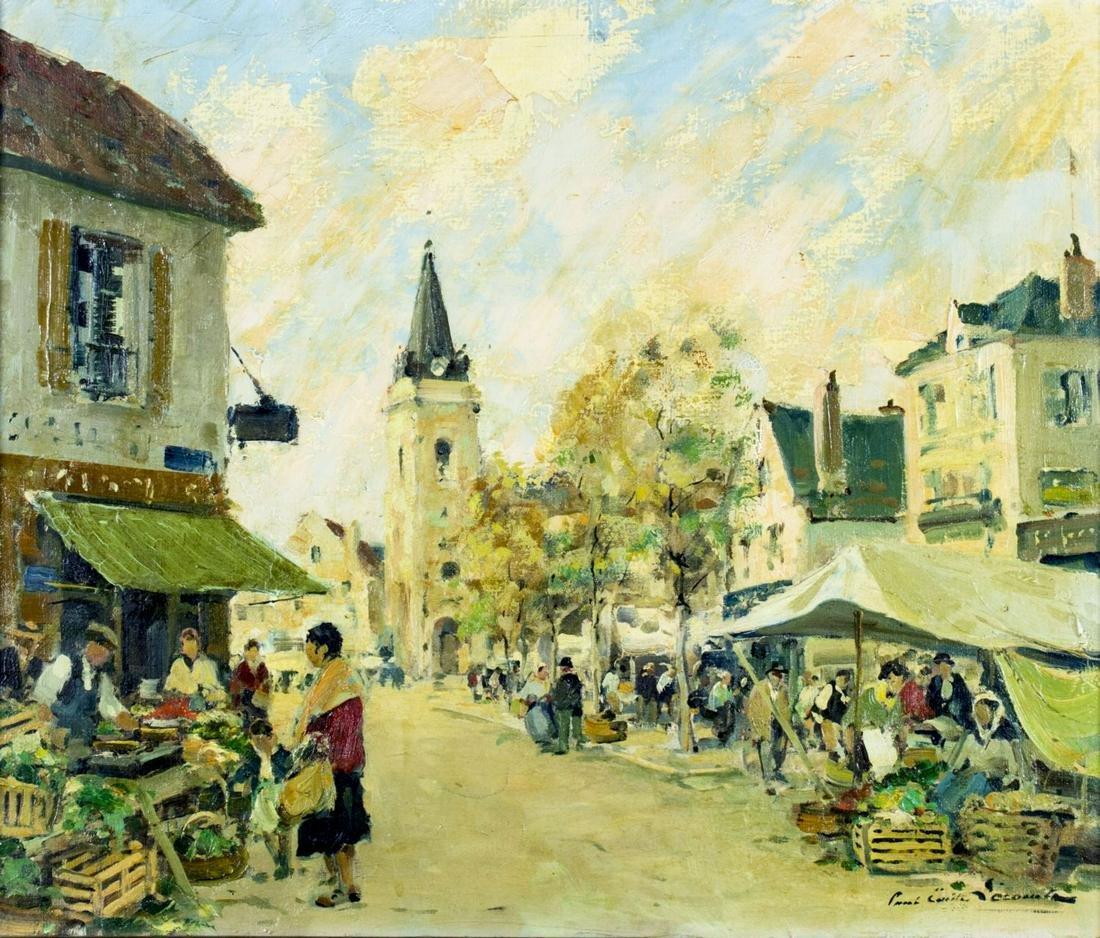 Paul Lecomte (US,France,1877-1950) oil painting