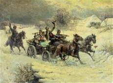 Gustav Prucha (US,Austria,1875-1952) oil painting