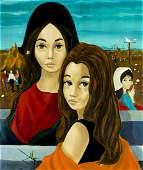 Jean Pierre Serrier France19341989 oil painting