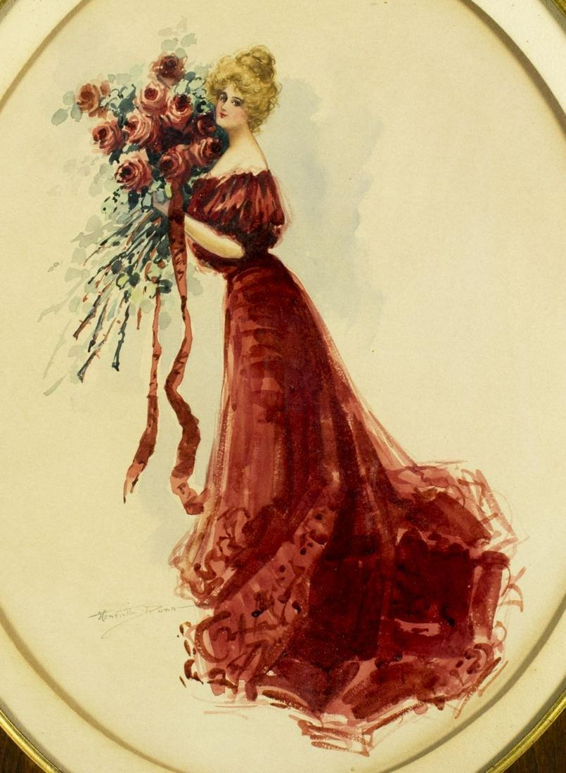 Henrietta Dunn Mears (MA,CA,1877-1970) watercolor
