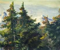 Sydney Mortimer Laurence (NY,AK,CA,1865-1940) oil