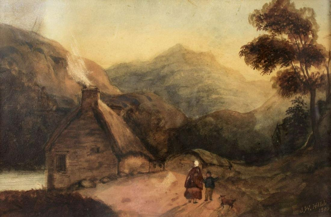 John William Hill (NJ,CA,1836-1928) watercolor on paper