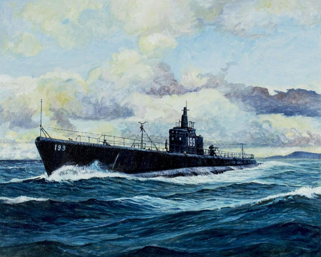 Brian Sanders (UK,born 1937) oil painting