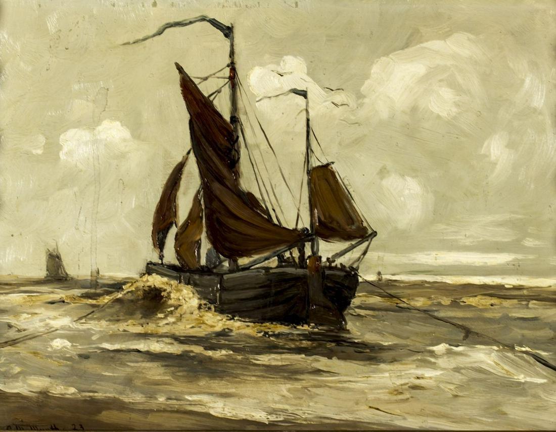 Gerhard Munthe (Dutch,German,1875-1927) oil on board