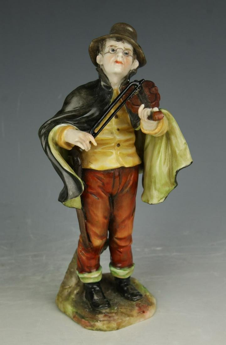 "Dresden Volkstedt figurine ""Man with Violin"""