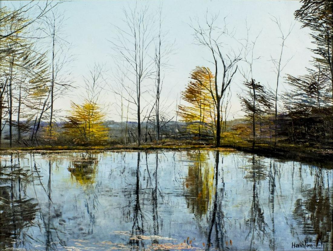 Robert Hamblen (RI,NJ,1932-2017) oil painting