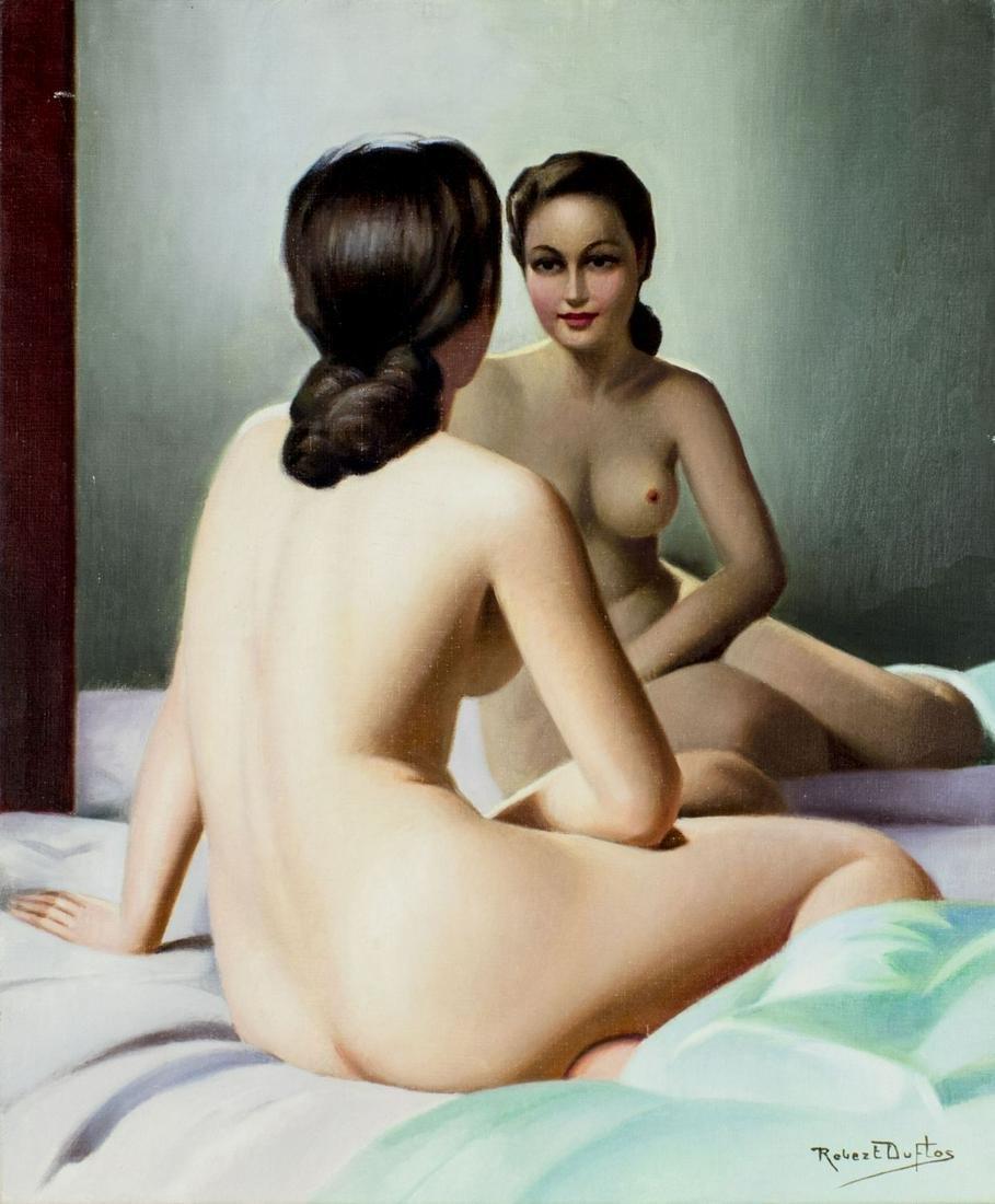 Robert Duflos (French,1898-???) oil painting