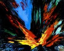 Leonardo Nierman (NY,Mexican,b 1932) acrylic painting