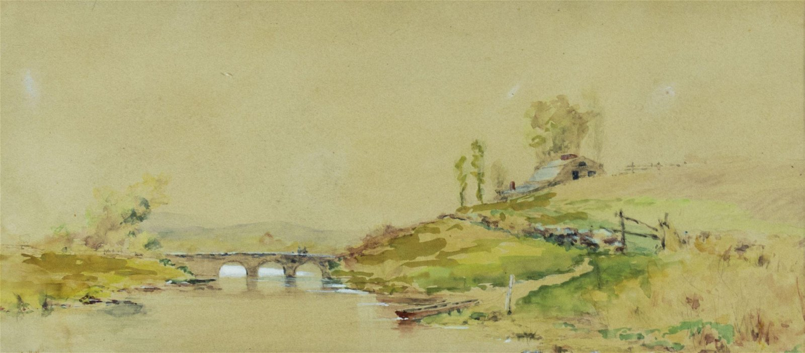 William Bicknell (MA,1860-1947) watercolor painting