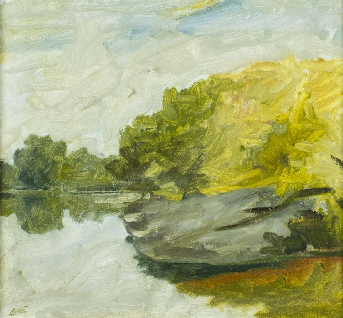 Paul Havas (WA,NJ,1940-2012) oil painting