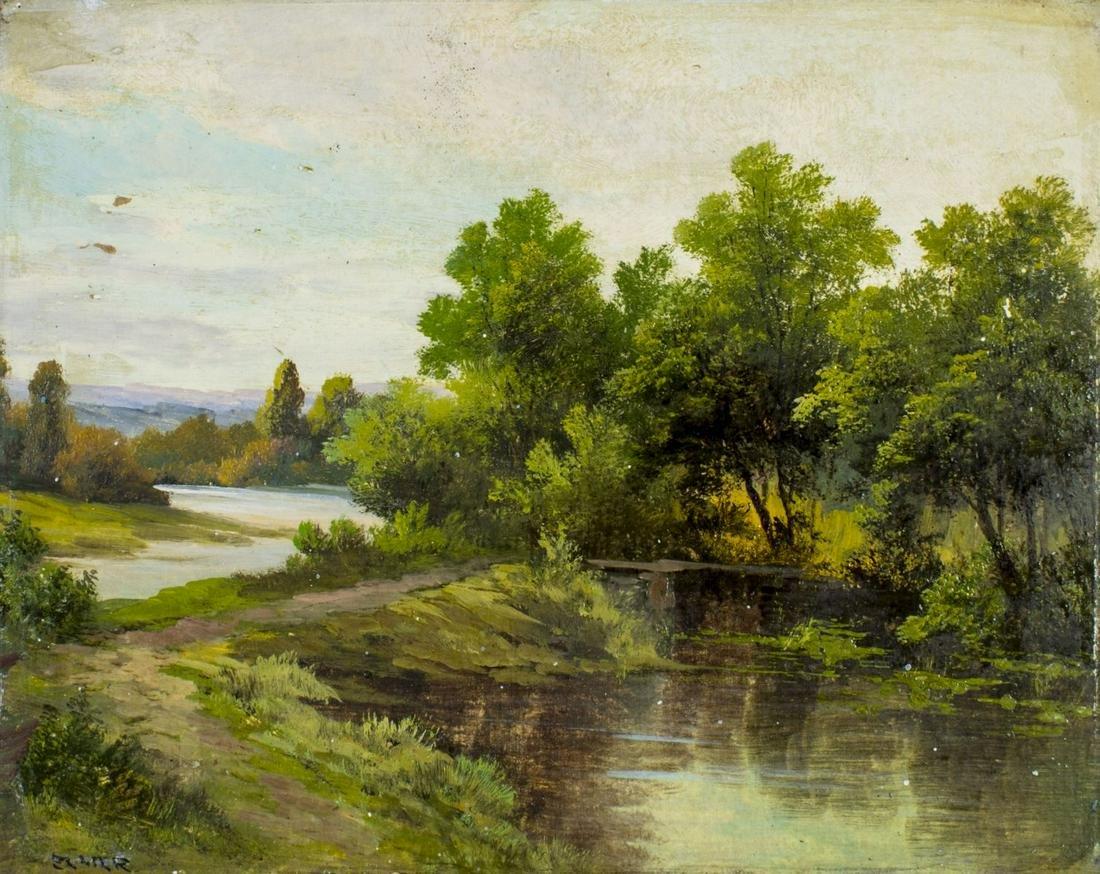 Antique Austrian Landscape oil painting signed