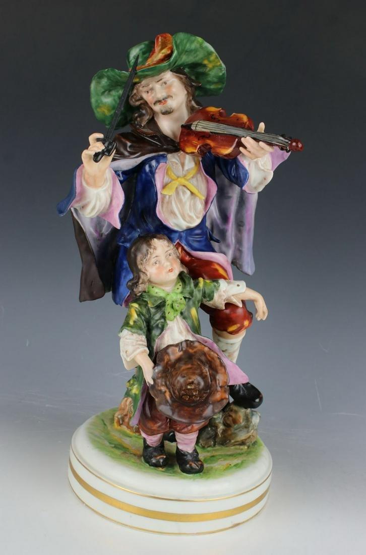 """Rudolstadt Ernst Bohne Sohne Figurine """"Man with Violin"""