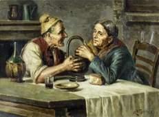 Raffaele Frigerio (Italy,1875-1948) oil painting