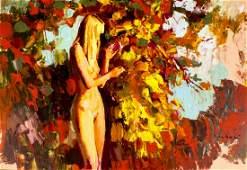 Nicola Simbari (Italy,1927-2012) oil painting