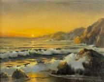 Gloria K Williams (CA,20C) oil painting antique