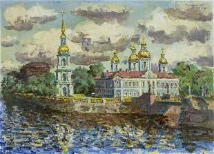 Vladislav Kunakov (Russia, b 1960) oil painting
