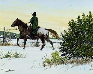 Manuel Garza (TX,b 1940) oil painting