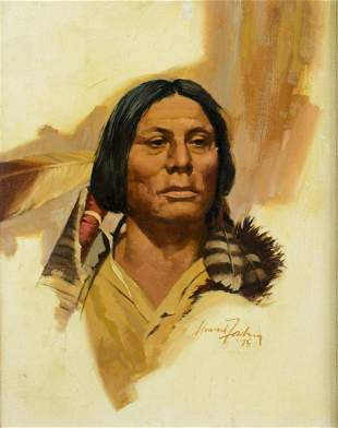 Howard Forsberg (NM,CT,WI,1918-2002) oil painting