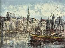 Zante (Dutch,20C) oil painting antique