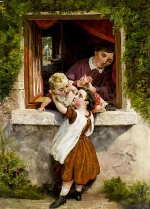 William Henry Midwood (UK,fl 1867-1871) oil painting
