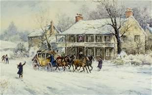 Joseph Conover Claghorn (DC,MD,PA,1869-1947) watercolor