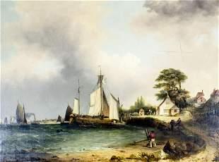 William Shayer I (UK,1788-1879) oil painting antique