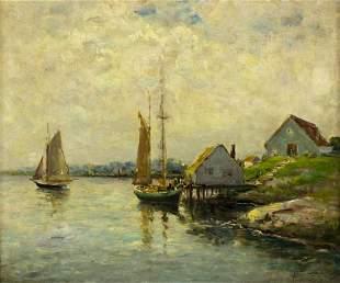 Dedrick Stuber (California,1878-1954) oil on board