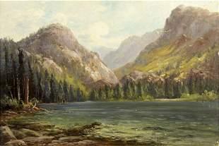 Frank Lucien Heath (CA,OR,1857-1921) oil painting
