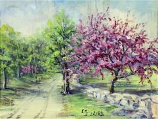 Emily Dillard (Texas,1879-1968) oil painting