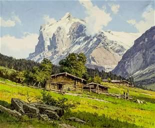 Ernst Carl Walter Retzlaff (German,1898-1976) oil
