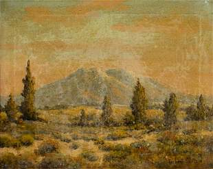 Herbert Sartelle (CA,1885-1955) oil painting
