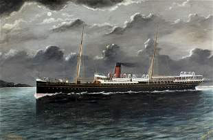 Frank Barnes (New Zealand,1859-1941) oil painting