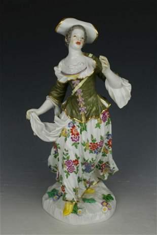 "Meissen Kaendler figurine 1295 ""Woman with Bag"""