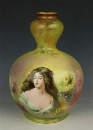 Royal Bonn art nouveau Sigmund Wirkner hand painted