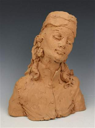 "OOAK Giuseppe Armani Figurine ""Bust of Woman"""