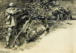 De Cost Smith (NY,1864-1939) watercolor painting