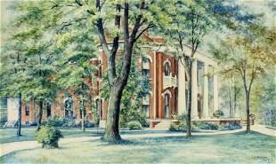 Larue Perene Shaver (IL,OH,1860-1934) watercolor