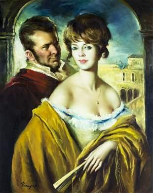 Jose Puyet (Spain,1922-2004) oil painting