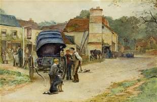 Ellen Grace Parker (UK,1875-1903) watercolor painting