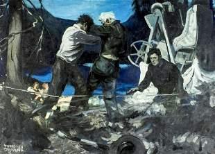 Frank Spradling (NJ,NY,IN,1885-1972) oil painting