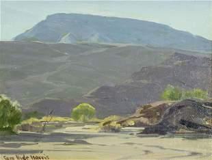 Samuel Hyde Harris (CA,1889-1977) oil painting