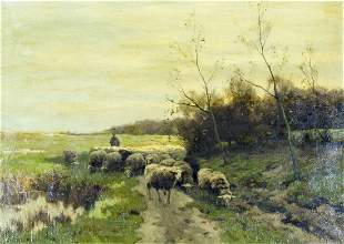 Willem Steelink I (Dutch,1826-1913) oil painting