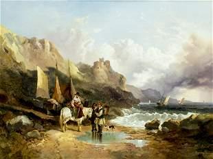 Joseph Horlor (UK,1809-1887) oil painting antique
