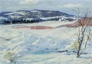 Frank Gervasi (TX,1895-1986) oil painting