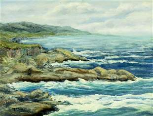 Frank Moore (CA,NY,1877-1967) oil painting