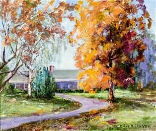 Olive Ruth Holbert Chaffee (MO,AL,1886-1980) oil