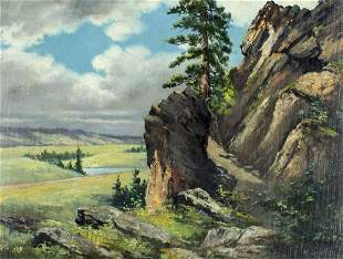 M Smythe (WA,mid 20C) oil painting