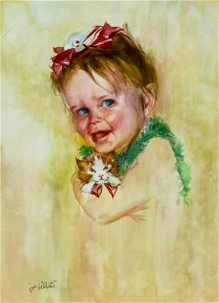 Joseph Billanti (NY,FL,1925-2010) watercolor painting