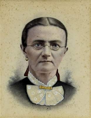 J P Palmer (US,19C) watercolor painting antique