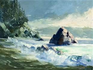 J. Garda (OR,mid 20C) oil painting